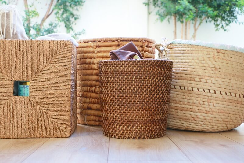 storage, organize, organise, wicker, bedroom, bathroom, kitchen